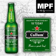 8 Personalised Lager/Beer Bottle Labels (Birthday Gift) (H)