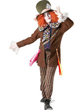 Adult Disney Mad Hatter Alice In Wonderland Fancy Dress Costume Men Gents
