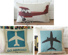 Novelty Airplane Aircraft Helicopter Pattern decorative cushion cover pillowcase