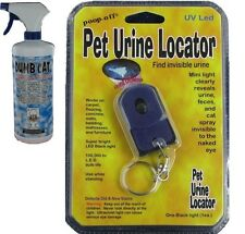 Poop Off Cat Anti-Marking & Cat Spray Remover / Pet Urine Locator Blacklight