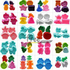 Various Shaped cartoon Animals Cookie Stamp Mould Molds Cutters Plungers Tools