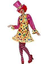 SALE! Adult Circus Clown Ladies Halloween Fancy Dress Hen Party Costume Outfit