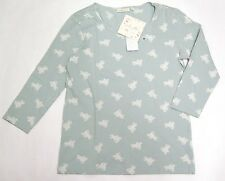 UNIQLO WOMEN CABBAGES & ROSES 3/4 SLEEVE T-SHIRT Light-Green (075690)