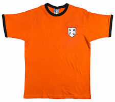 Retro Dundee United 1950s Football T Shirt New Sizes S-XXL Embroidered Logo