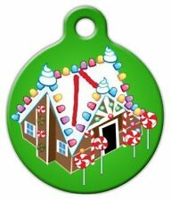 GINGERBREAD HOUSE - Custom Personalized Pet ID Tag for Dog and Cat Collars