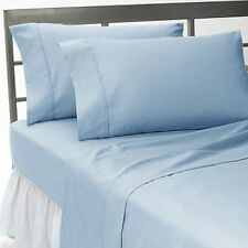 SKY BLUE SOLID COMPLETE USA BEDDING 1000TC 100% COTTON CHOOSE SIZE AND ITEMS