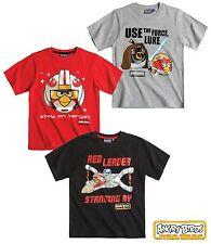 New Boys Angry Birds T-shirt Angry Bird Star Wars Top T-Shirt Age 3-12 Years