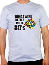 THINGS WERE BETTER IN THE 80'S - Retro / Year / Novelty Themed Mens T-Shirt
