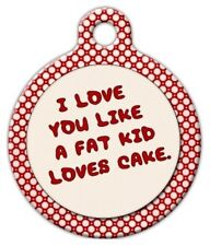 FAT KID - Custom Personalized Pet ID Tag for Dog and Cat Collars