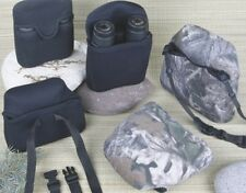 New Black or Camo Neoprene Binocular Cover Water Bino Shock Case Sock