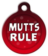 MUTTS RULE - Custom Personalized Pet ID Tag for Dog and Cat Collars