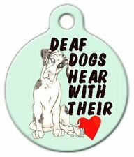 DEAF DOG - Custom Personalized Pet ID Tag for Dog and Cat Collars