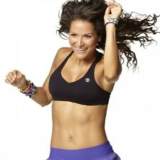 Authentic New in Package Zumba Sizzle V-Bra Top, Black or Zumba Green All sizes