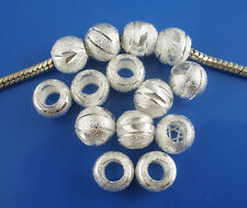 NEW Silver Plated Mixed Stardust Spacer Beads Fits Most European Charm Bracelets