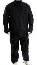 Warm Up Suit Water Resistant High Quality Fabric Mesh Lined Jacket/Pants BLACK