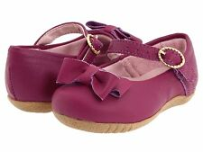 Baby Girls Shoes Pampili LARA Purple Leather With Bow Accent Toddler Sizes