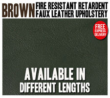 NEW BROWN HEAVY DUTY UPHOLSTERY FAUX LEATHER/ VINYL/FABRIC/LEATHERETTE/MATERIAL