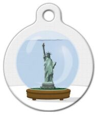 NEW YORK SNOW GLOBE - Custom Personalized Pet ID Tag for Dog and Cat Collars