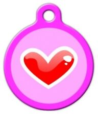 RED HEART - Custom Personalized Pet ID Tag for Dog and Cat Collars