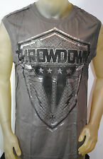 NWT THROWDOWN by AFFLICTION mens SQUAD X graphic MMA UFC tank T0843 *S-3XL