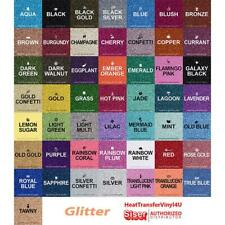"Siser GLITTER Heat Transfer Vinyl 20"" x 5 Yards (39 Colors to choose from!)"
