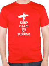 KEEP CALM AND GO SURFING - Water / Sports / Boarding / Surf Themed Mens T-Shirt