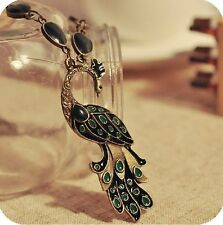 New Retro Style Enamel Peacock Chain Necklace Charm Animal Pendant
