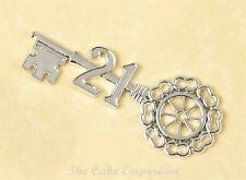CAKE TOPPER 18th or 21st BIRTHDAY KEY-SILVER