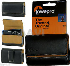 Lowepro Sorrento Compact Leather Carrying Case Bag w/Beltloop For Digital Camera