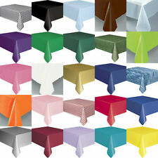 PLASTIC TABLECOVERS PARTY TABLECOVER TABLECLOTHS CHOOSE FROM MANY COLOURS