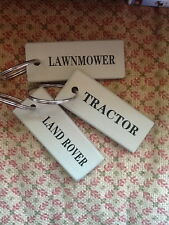 "Key Ring or Tag for the 'LAND ROVER, TRACTOR or LAWN MOWER"", Self Assembly"