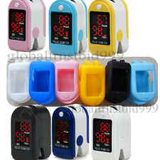 FDA CE Finger Pulse Oximeter  Fingertip Oxygen Monitor SPO2 PR / rubber case