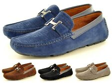 Mens Perforated Faux Suede Casual Loafers Moccasins Shoes Avail. UK Sizes 6-11