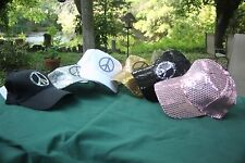 Casual Outfitters Sequin Ball Cap with Peace Sign Brand New with Tags Bling