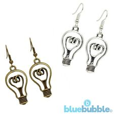 FUNKY LIGHT BULB EARRINGS CUTE KITSCH QUIRKY STYLE BRIGHT VINTAGE IDEA BOHO CHIC