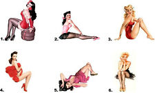 Nail Decals Art Set of 20 - Pin Up Girl