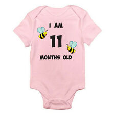 I AM 11 MONTHS OLD - Age / Eleven / Birth / Bumble Bee Themed Baby Grow / Suit