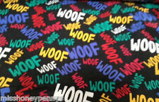 Dog Patterned Polyester Microfibre Fabric Material Pet Supplies Easy Clean