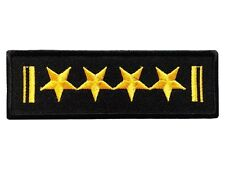 A Four-Star General Embroidered Iron on Biker Patches Military Army Woven Badges