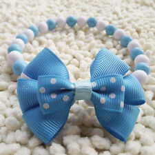 Pet dog Cat Puppy female necklace jewelry accessories ribbon bow