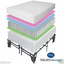 """NEW 8"""" TIGHT TOP SPRING MATTRESS & STEEL BED FRAME SET KING QUEEN FULL TWIN SIZE"""