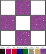 4 INCH GLITTER VINYL TILE STICKERS - LOTS OF COLOURS - BULK PACKS