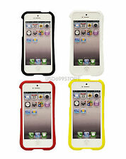 BLACK WHITE YELLOW RED CASE COVER TPU RUBBER SKIN HARD BUMPER FOR APPLE iPHONE 5