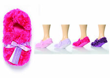 Ladies Jennifer Anderton Shaggy Slippers Socks