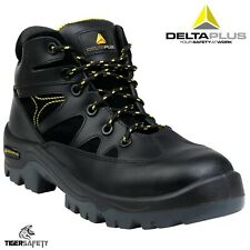 Delta Plus Panoply Ohio S3 Black Leather Mens Safety Trainers Composite Toe Cap