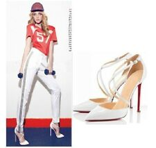 New Fashion Womens Criss-Cross Strappy Pointy Toe high heels shoes sandals