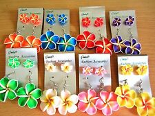 *NEW* Hawaiian Plumeria Foam Flower Earring 2 Set.