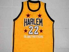 """CUSTOM NAME & # HARLEM GLOBETROTTERS FRED """"CURLY"""" NEAL JERSEY GOLD XS - 5XL"""