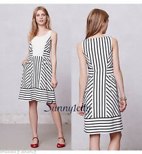 NEW Anthropologie Chessia Dress by Maeve sz 0 Stripes 5 star review RARE LAST 1