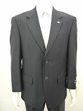 Enrico Brindisi Italian 2 Buttons Super 150 Wool suit with Pleated Pants, Navy